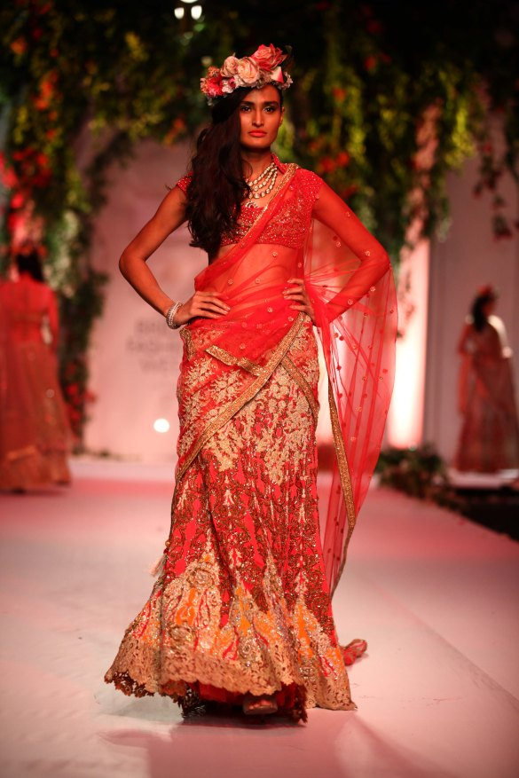 India Bridal Fashion Week Delhi 2013 - Model seen in Falguni & Shane's Collection_1 (1)