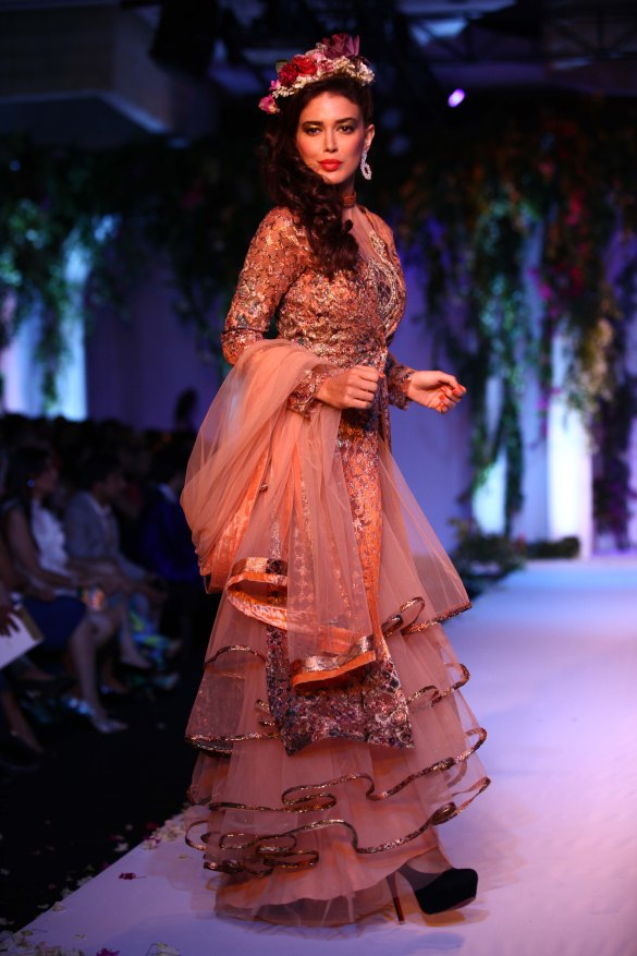 India Bridal Fashion Week Delhi 2013 - Model seen in Falguni Shane's Collection_1