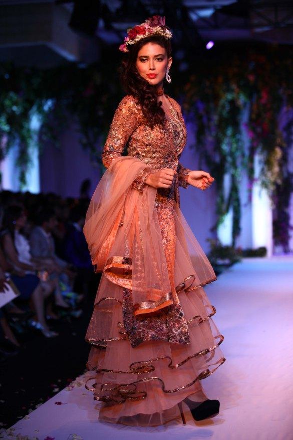 India Bridal Fashion Week Delhi 2013 - Model seen in Falguni Shane's Collection_1