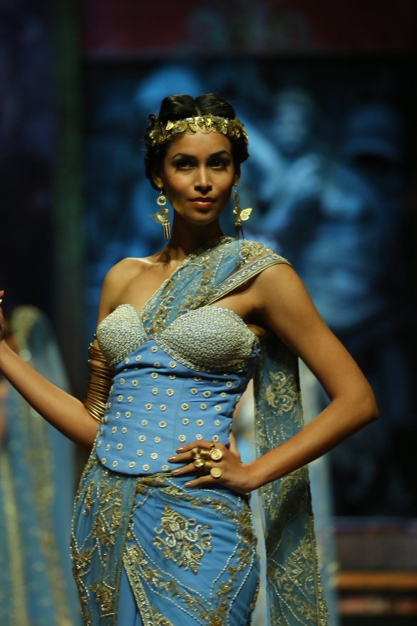 India Bridal Fashion Week Delhi 2013 - Model seen in  Suneet Varma's Collection_7