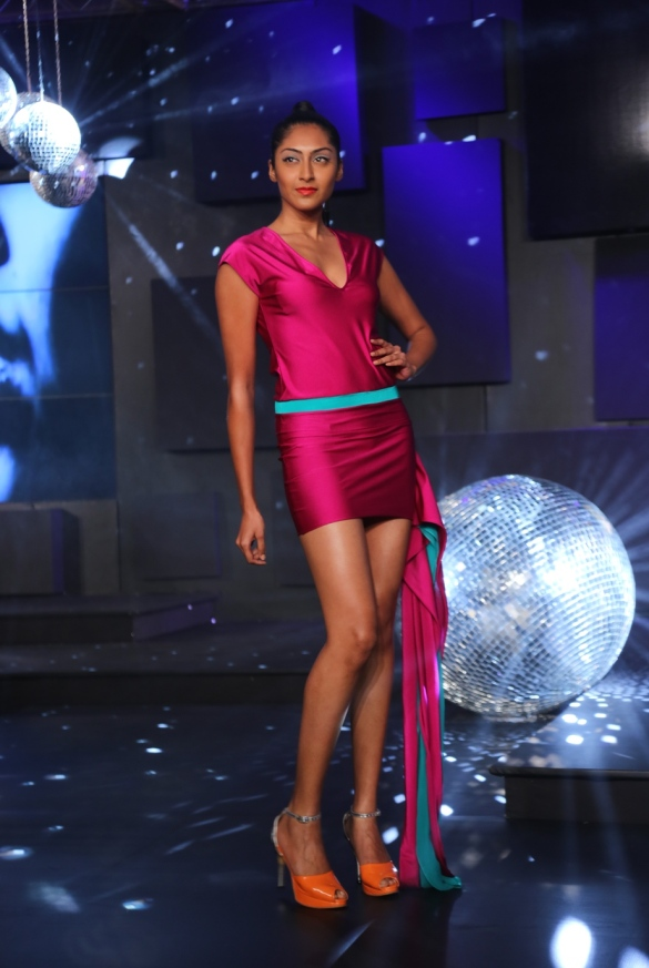 Seen at the Blenders Pride Fashion Tour, Gurgaon - Model in Wendell Rodrick's Collection