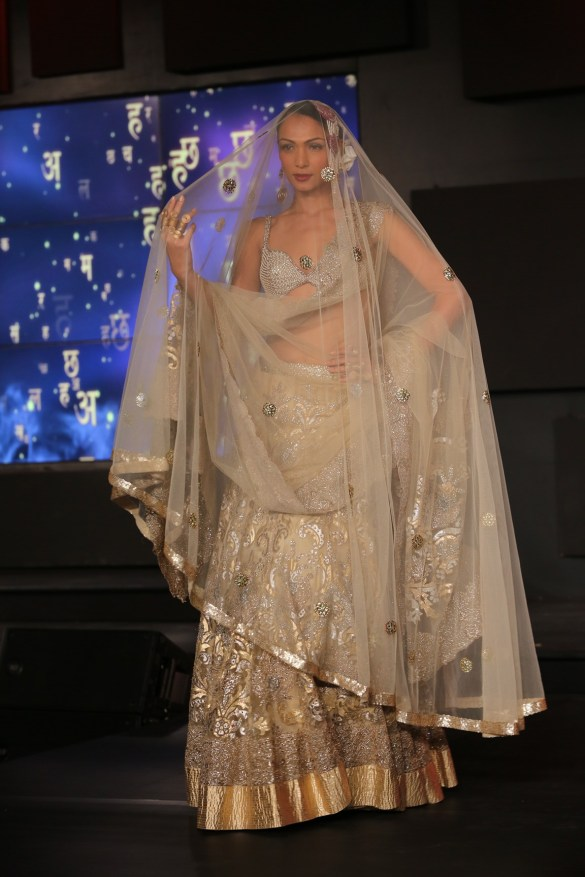 Seen at the Blenders Pride Fashion Tour, Gurgaon -Model seen in Suneet Varma's Collection 10
