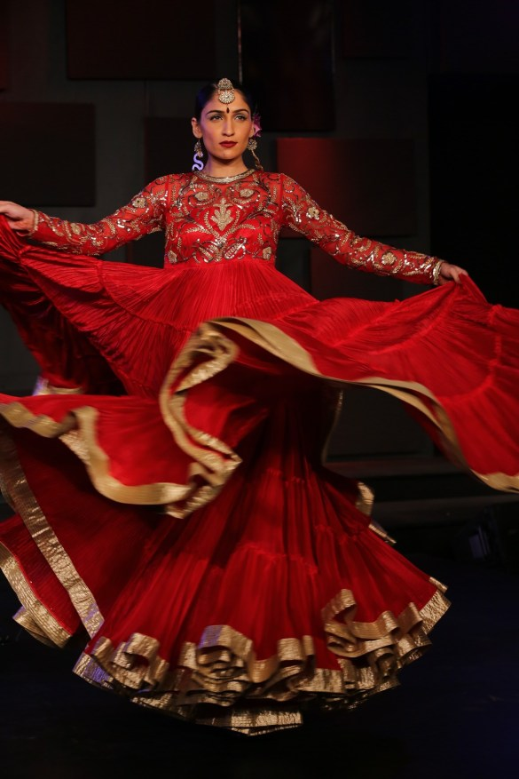 Seen at the Blenders Pride Fashion Tour, Gurgaon -Model seen in Suneet Varma's Collection 13