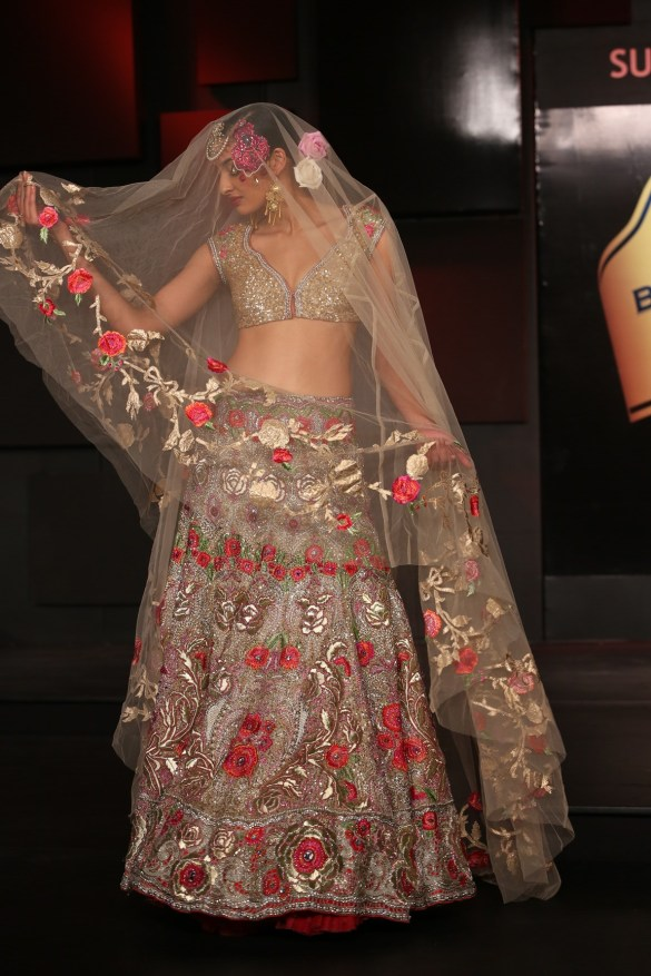 Seen at the Blenders Pride Fashion Tour, Gurgaon -Model seen in Suneet Varma's Collection 3