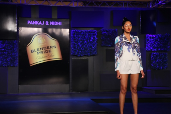 Seen at the Blenders Pride Fashion Tour, Gurgaon - Models in Pankaj & Nidhi Collection 2