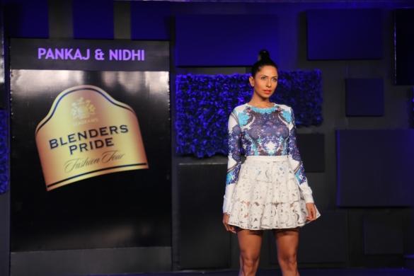 Seen at the Blenders Pride Fashion Tour, Gurgaon - Models in Pankaj & Nidhi Collection 3