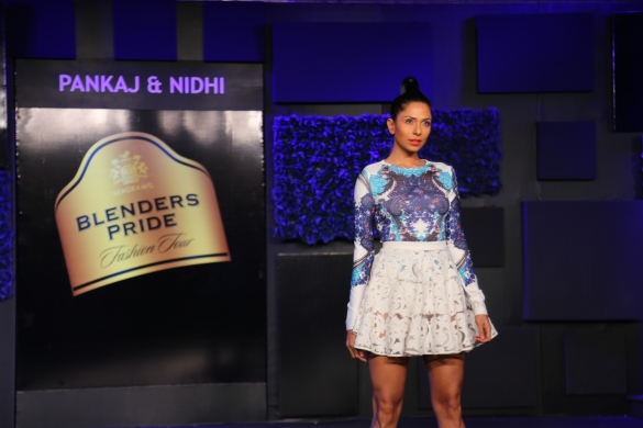Seen at the Blenders Pride Fashion Tour, Gurgaon - Models in Pankaj & Nidhi Collection 3