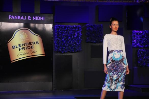 Seen at the Blenders Pride Fashion Tour, Gurgaon - Models in Pankaj & Nidhi Collection 5