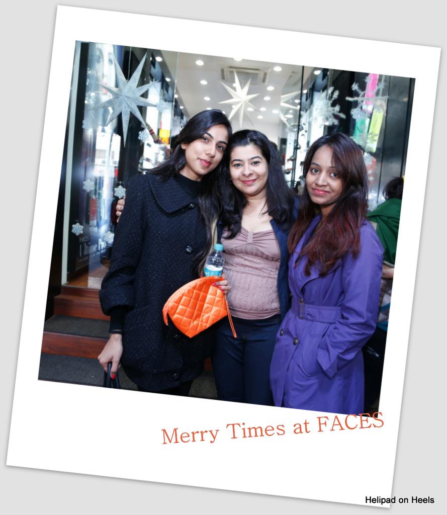With Vishaka Chhaproo AVP- Marketing & PR at FACES Cosmetics India ltd with Lavli at FACES Canada GK Store