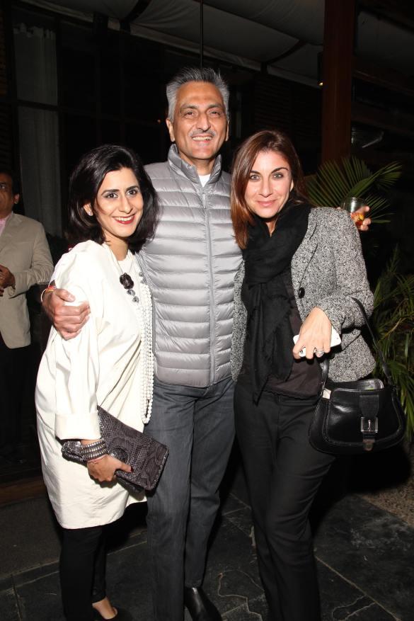 Sujata Assomull, Rakesh Thakore with a friend