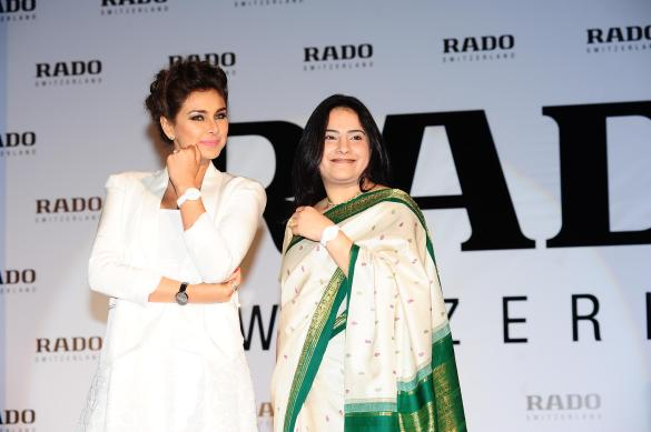 Lisa Ray with Simran Chandhoke, Rado Brand Manager