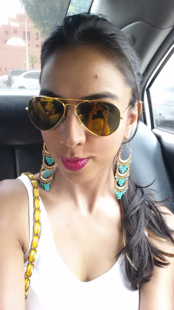 Aviators and Statement Earrings