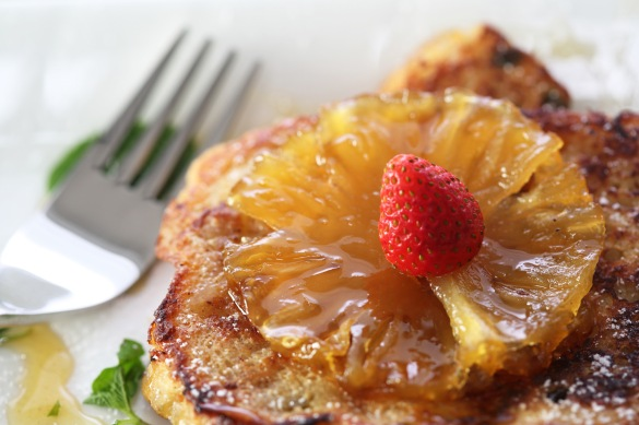 The Hungry Monkey - Coconut French Toast with Caramelised Pineapple