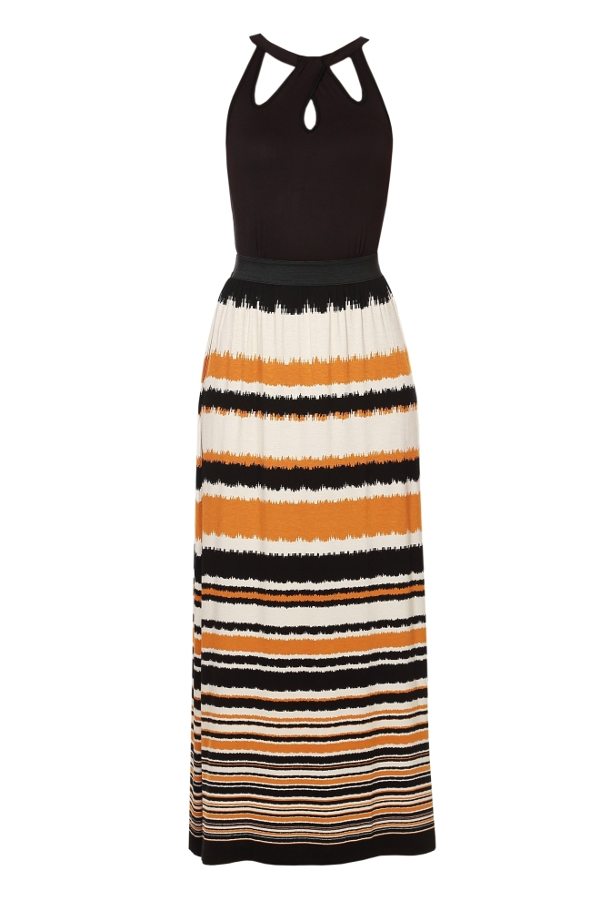 Autumn waves print maxi dress.MRP.1999