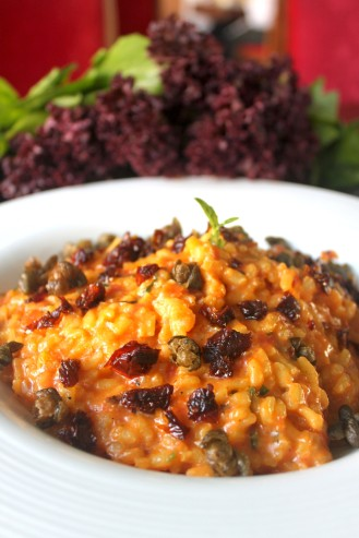 Saffron Risotto and Sun Dried Tomatoes