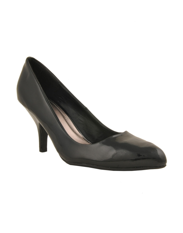 Back in Black Patent Pumps