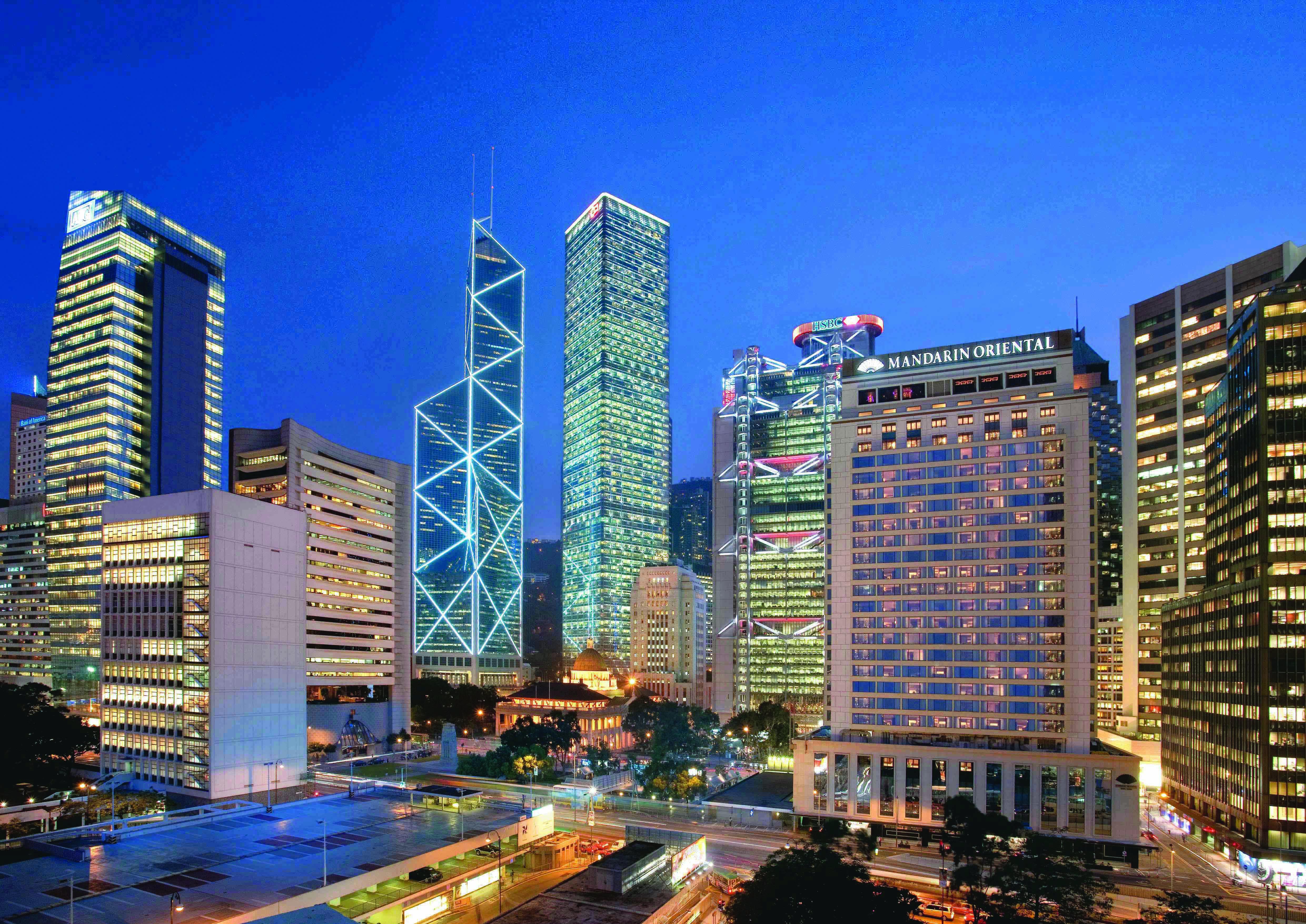 Mandarin Oriental, Hong Kong - Exterior at Dusk (High Res)